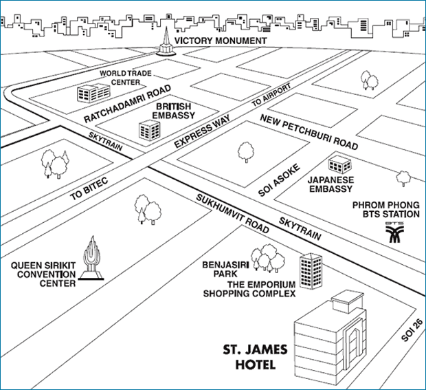 St. James Hotel's Map